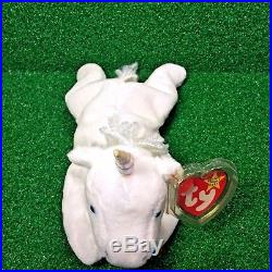 3a8bf135271 RARE 1993 Ty Beanie Baby Mystic The Unicorn Retired Iridescent Horn   Mane  MWMT