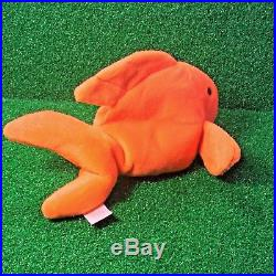 RARE 1994 GOLDIE The GOLDFISH Ty Beanie Baby RETIRED PVC Plush Toy FREE SHIPPING