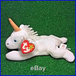 52cb4727ecd RARE 1994 Retired Mystic Unicorn BROWN HORN Ty Beanie Baby Plush with PVC    ERRORS