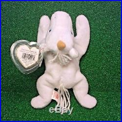 RARE 1994 Retired Mystic Unicorn BROWN HORN Ty Beanie Baby Plush with PVC & ERRORS