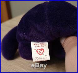 RARE 1997 1ST Edition Ty Beanie Baby Bear Princess Diana China PE NO# HANDMADE