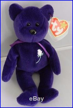Rare 1997 Ty Princess Diana 1st Edition Beanie Baby Bear Indonesia