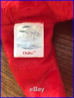 c0bd68596c7 RARE 1999 Osito Bear Mexico ORIGINAL TY Beanie Baby No Stamp