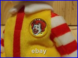 RARE 2004 Ty Beanie Babies Convention Beanie Ronald McDonald the Bear