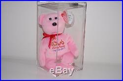 RARE 2013 Hong Kong Toy Fair Bear TY Beanie Baby LIMITED AUTHENTICATED MWMT MQ