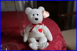 RARE! 2nd Generation TY Valentino Beanie Baby Bear 1993