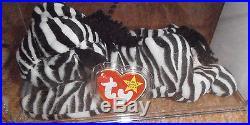 RARE Authenticated Ty MWMT-MQ Fuzzy Back Ziggy Oddity Beanie Baby