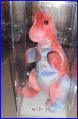 RARE Authenticated Ty REX Gorgeous Coloring Beanie Baby 1st genTush