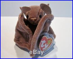 1c842b43e1c RARE BATTY TY BEANIE BABY-1996 BATTY THE BAT TY BEANIE BABY-PVC PELLETS