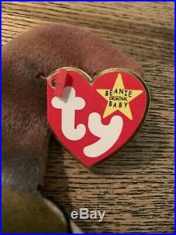 RARE CLAUDE the CRAB TY Beanie Baby with errors 1996 Original With Tags