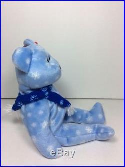 e2c97a4b126665 RARE ERRORS TY Beanie Babies Baby ICE BLUE SNOWFLAKE 1999 HOLIDAY TEDDY  BEAR NWT
