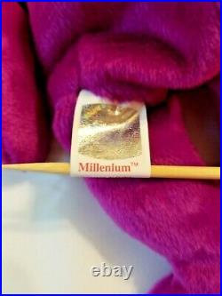 RARE! MISSPELLED Millenium on BOTH tags! Ty Beanie Baby multiple Tag ERRORS
