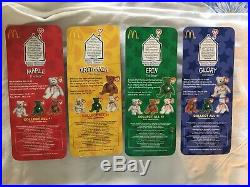 RARE! McDonalds Ty Beanie Babies International Canadian Edition Set Of 4