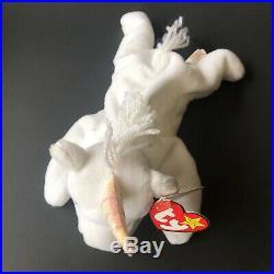 RARE Mystic Beanie Baby With Tag Errors 1994 Yarn Mane / Tail -White Unicorn