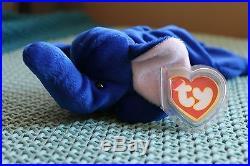 RARE Peanut the Royal Blue Elephant Beanie Baby