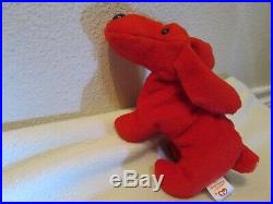 RARE RETIRED 1996 TY Beanie Baby ROVER WithPVC Pellets and collectible Errors EUC