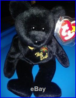 RARE Retired Beanie Baby The End with ALL TAG ERRORS