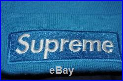 RARE Supreme Beanie Box Logo Baby Blue FW18 100% Authentic One Size Hat