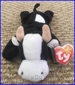RARE TY 1993 1994 Beanie Baby Daisy Cow Retired PVC Deutschland Ears ERRORS ea025357750