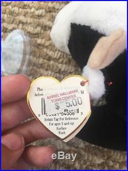 RARE TY 1993/1994 Beanie Baby Daisy Cow Retired PVC Deutschland Ears ERRORS