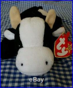 RARE TY 1993 1994 Beanie Baby Daisy Cow Retired PVC Pellets Deutschland  ERRORS 4c5b1d7a379