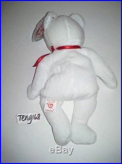 Rare Ty 1993 Beanie Origiinal Baby Valentino Pvc Pellets Handmade In China