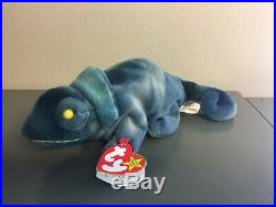 RARE TY Beanie Baby 1997 Rainbow the Chameleon Retired