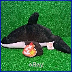 f12b81472bb RARE TY Beanie Baby Splash The Whale PVC Plush 1993 RETIRED Original 9 MWMT