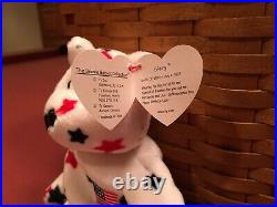 RARE TY GLORY Beanie Baby with Numbered Tush Tag & Tag Errors Mint + McDonald's