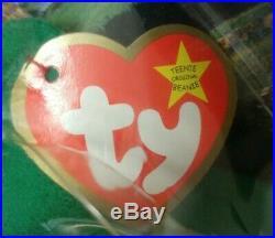 RARE TY McDonalds Teenie Beanie Baby Erin The Bear 1997 RETIRED WITH 6 ERRORS
