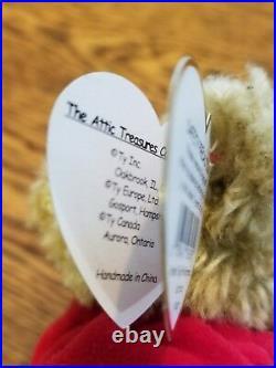 RARE! TY Piccadilly Bear ERROR with Azalea Bunny Hang Tag-Beanie Baby