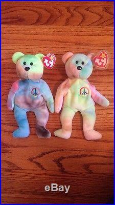 RARE Twin'Peace' Beanie Babies