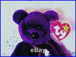 RARE Ty Beanie Baby 1997 Princess Diana Bear Retired! 1/2 Price- Mint 1997 P. E