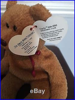 3dbdb824753 RARE Ty Beanie Baby CURLY BEAR 1996 with 6 Errors  4052