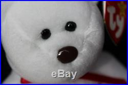 RARE Ty Beanie Baby VALENTINO Retired 1993/94 with5 tag errors, PVC, BROWN NOSE