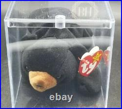 RARE Ty Blackie Bear Beanie Baby with 8 ERRORS 1994 1993 PVC Mint Condition