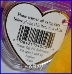 RARE Ty Patti Platypus Beanie Babies Baby Style 4025 PVC Pellets 1993