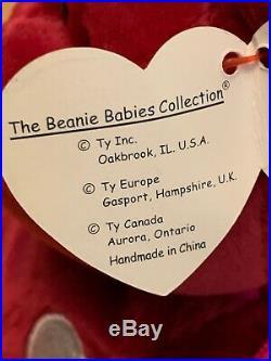 RARE'VALENTINA' Beanie Baby with Tag Errors & P. E. Pellets
