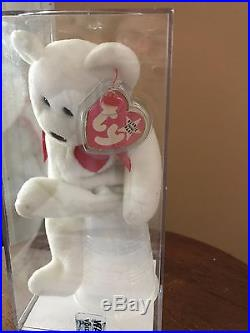 RARE VALENTINO BEANIE BABY PINK TAG With WHITE STAR/ CERTIFICATE OF AUTHENTICITY