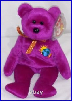 RETIRED Ty Beanie Baby MILLENNIUM BEAR ERRORS With Tags RARE