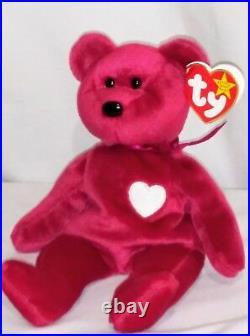 RETIRED Ty Beanie Baby VALENTINA Bear ERRORS With Tags RARE