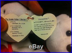 Rare 1993 Vintage Valentino Ty Beanie Baby NWT-Mispelled Tag and PVC