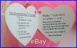 Rare 1995 Pinky Beanie Baby-tag errors