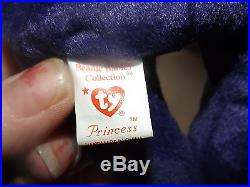 Rare 1997 Princess Diana Ty Beanie Baby Retired P. E. Pellets Reg. No Pa 1965(kr)