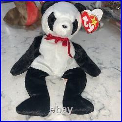 Rare 1997 TY BEANIE BABY FORTUNE Panda With RARE 1998 Tush Tag