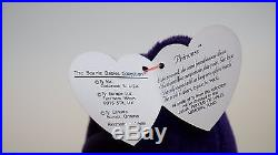 Rare 1997 Ty Princess Diana Beanie Baby, made in Indonesia, & P. E pellets