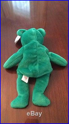 6acf3f209bd Rare 1st Edition 1997 Erin Ty Beanie Baby Mint Condition Errors No Tushtag  Stamp