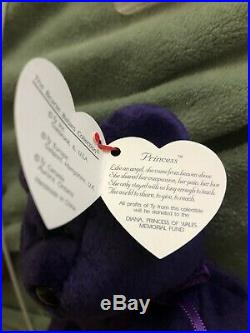 Rare 1st Edition 1997 TY Princess Diana Beanie Baby Authentic Handmade In China