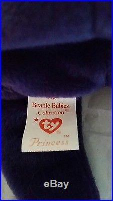 Rare 1st Edition 1997 TY Princess Diana beanie baby, China, Spaced Mem Fund