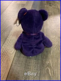 Rare 1st Edition Ty Beanie Baby Princess Diana Bear PVC Pellets & No Space China